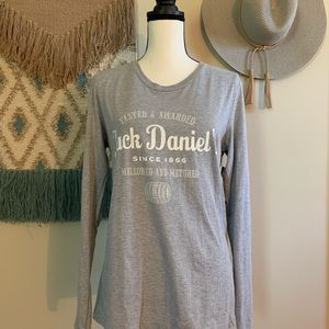 Jack Daniel's long sleeve gray XL NWT
